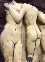 Three Graces nudes wall plaque